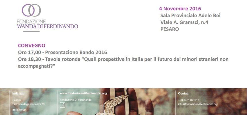 4/11: Presentazione Bando 2016