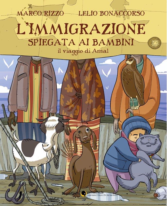 Copertina del libro L'immigrazione spiegata ai bambini