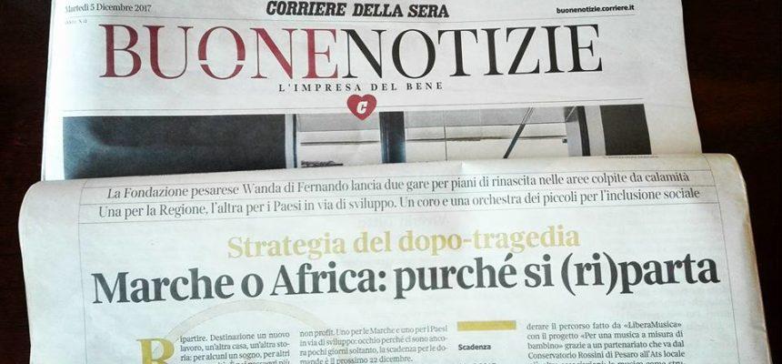 La Fondazione sul Corriere della Sera