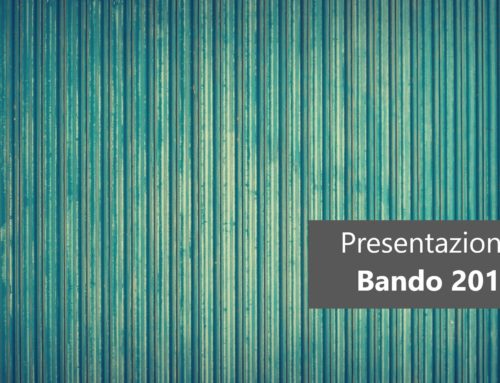 7 Novembre: Presentazione Bando 2019