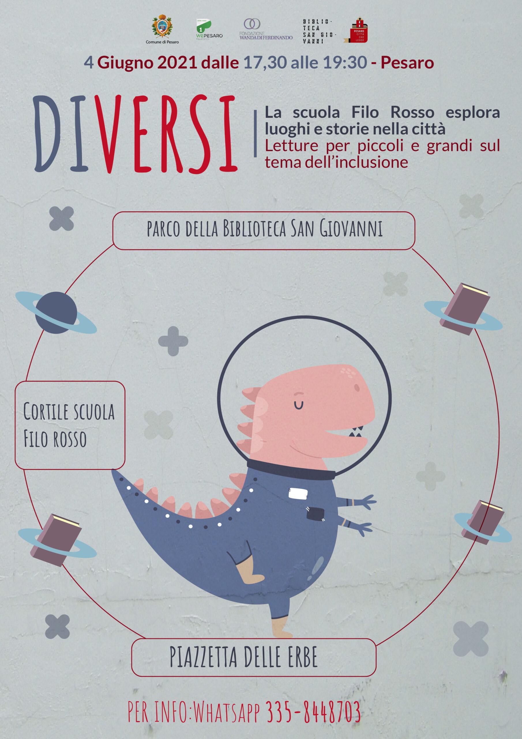 DIVERSI – Letture sull'inclusione in giro per la città di Pesaro
